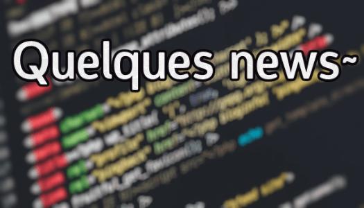 News en vrac (novembre 2019)